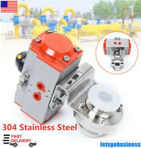 """1/"""" Tri Clamp Welded Sanitary Pneumatic Butterfly Valve 304 stainless steel NEW"""