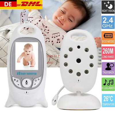 Funk Drahtlos Babyphone mit Kamera Video Audio Monitor Nachtlicht Babyviewer LCD