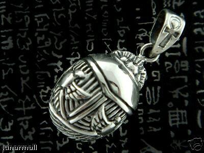 Egyptian silver  Cobra  Wadjet on the Scarab Pendant