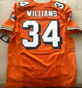 Ricky Williams Miami Dolphins authentic Nike Elite orange game model #34 jersey