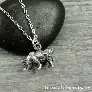 925 sterling silver cow charm necklace dairy cow farm animal image is loading 925 sterling silver cow charm necklace dairy cow aloadofball Image collections