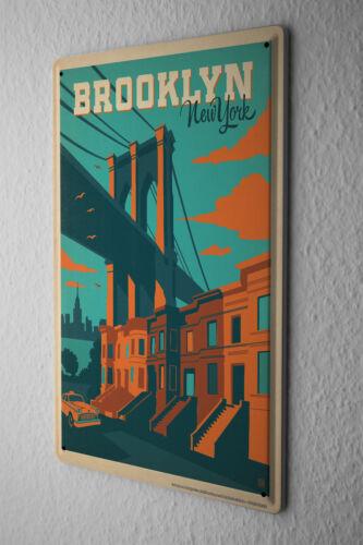 Travel Tin Sign Kitchen Decoration Brooklyn NY
