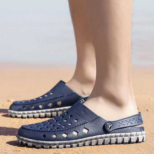 UK Men Garden Clogs Mules Slipper Sandals Summer Beach Hospital Flip Flops Shoes