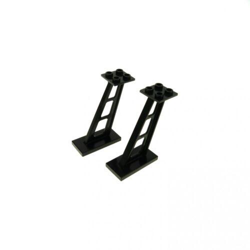 2 x Lego System Stütze schwarz 2x4x5 Säule 5mm Pfeiler Träger Leitwerk Blacktron