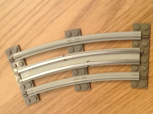 Lego Train 12v Curve 11 avail with postage discount light grey with sleepers