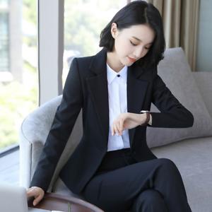 Elegant Womens Office Ladies Formal Blazers Suits Fashion Business