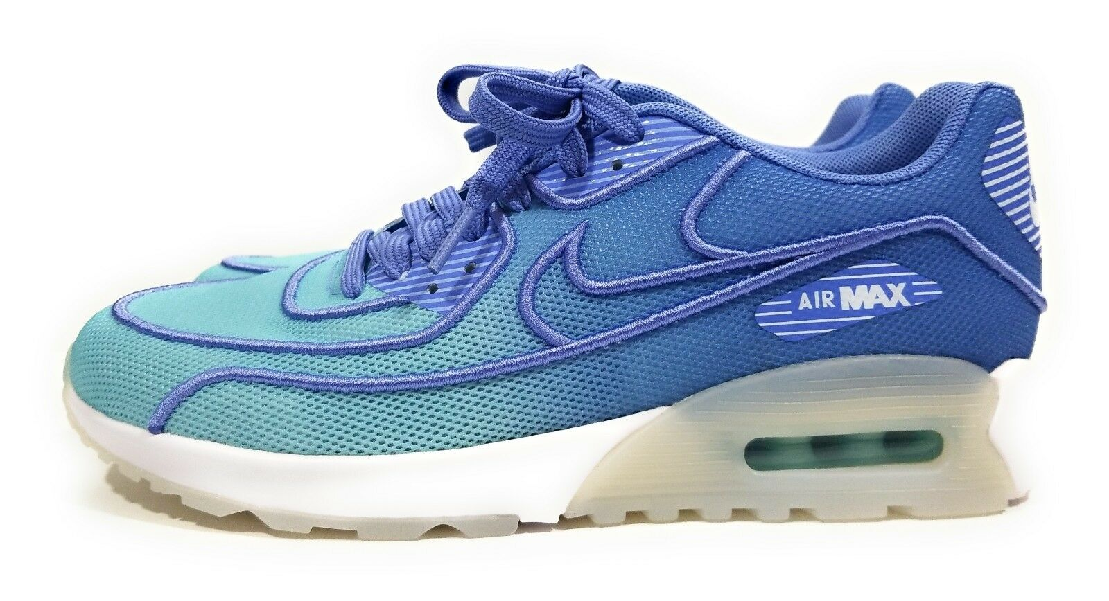 Nike Air BR Max 90 Ultra 2.0 BR Air Womens Running Shoes Polarized Blue White Size 7.5 793026