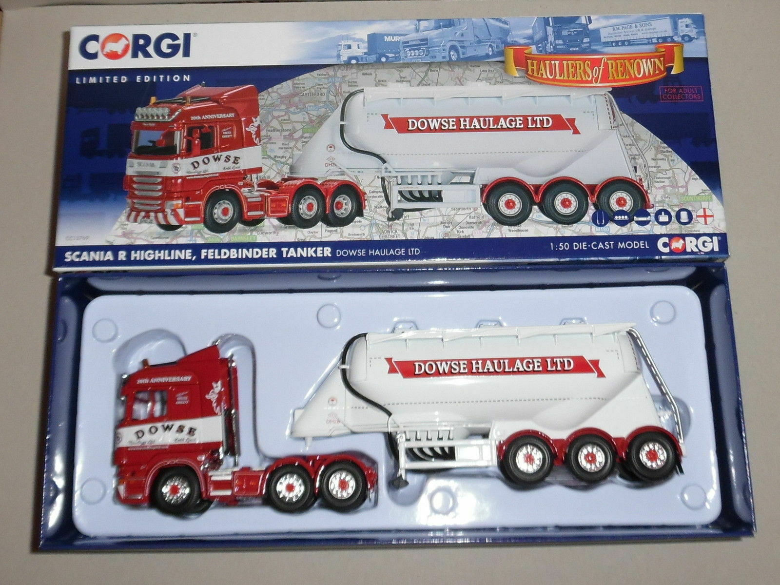 Corgi Classics CC13769 - Scania R Highline, Feldbinder Tanker, Dowse Haulage