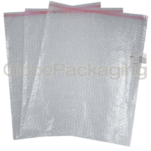 "15x17/"" 10 x BP7 STRONG PLAIN CLEAR PEEL /& SEAL BUBBLE POUCHES BAGS 380x435mm"