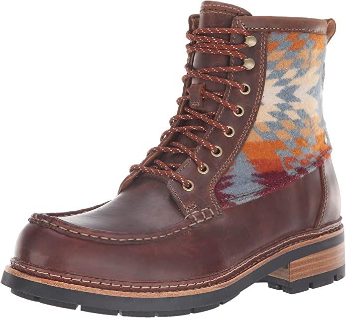 Clarks BNIB Mens Boots OTTAWA PEAK Dark Tan Combi UK 10 / 44.5