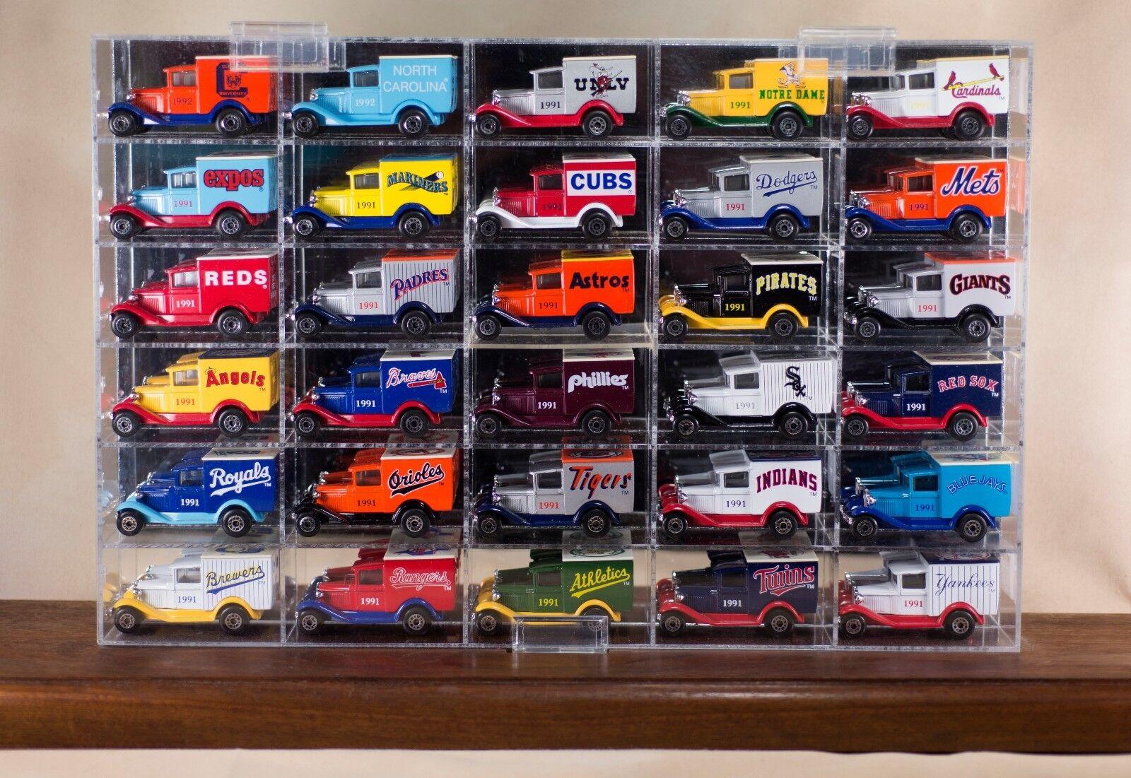 Matchbox mlb 30 baseball - autos in schaukasten 28 zwischen 1991 und 1992 plus 2 minze.