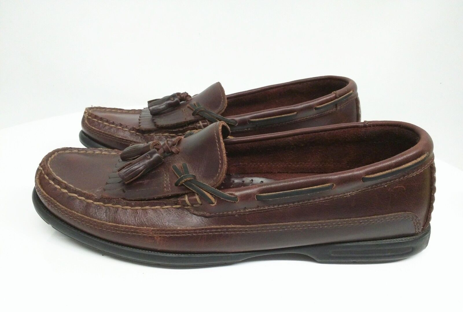 Vintage Sperry Top-Sider Full Leather Loafers Mens Size 11.5 M USA