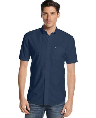 MENS TOMMY HILFIGER COTTON CLASSIC FIT BUTTON FRONT WOVEN SS SHIRT VARIETY