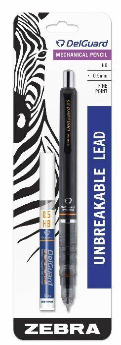 Zebra Pen ™ Delguard Mechanical Pencil Bonus Refill 0.5 mm Black Barrel