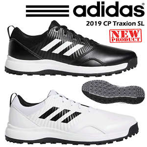 Details about ADIDAS GOLF SHOES MENS CP TRAXION SL 2019 BLACK WHITE ALL SIZES NEW 2019 WIDE