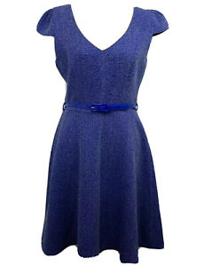 Review-Blue-Fit-amp-Flare-Cap-Sleeve-Dress-Size-8