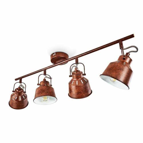 rostfarbene Wohn Schlaf Zimmer Leuchte Decken Lampe Vintage Flur Dielen Strahler