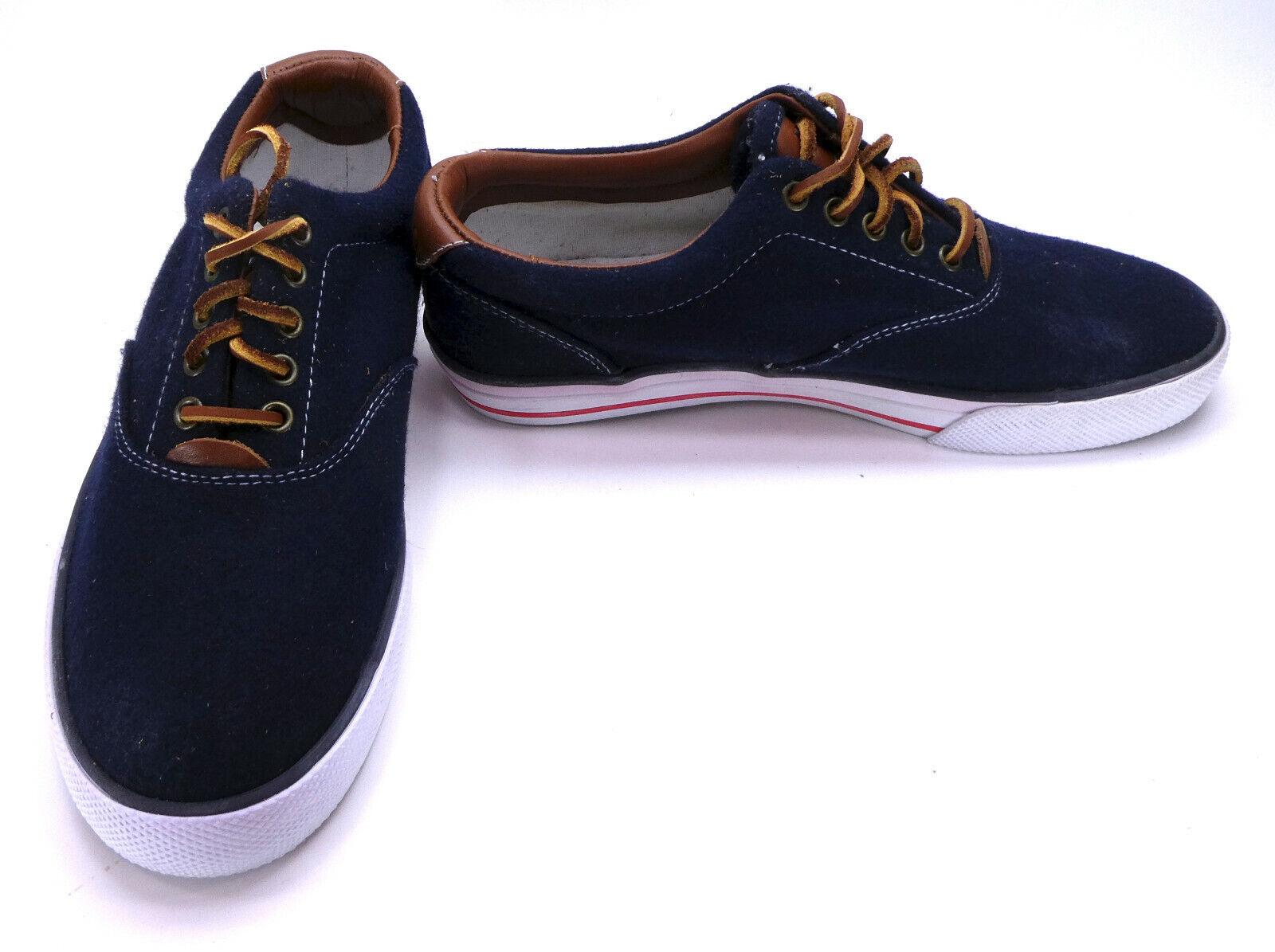 Polo Ralph Lauren scarpe Vaughn Athletic Flannel Navy blu scarpe scarpe scarpe da ginnastica Dimensione 9 a1b97b