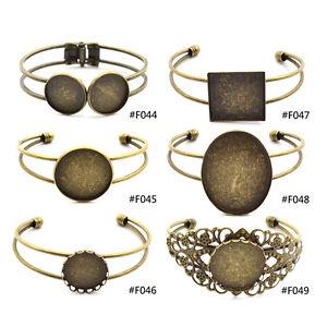 Brass-Cuff-Base-Tray-Blank-Bangle-DIY-Hollow-Out-Bronze-Bracelet-Vintage-Jewelry