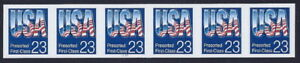 """2607c - XF-SUP Imperf Error / EFO PNC6 #1111 """"USA"""" Mint NH Cat $450+"""
