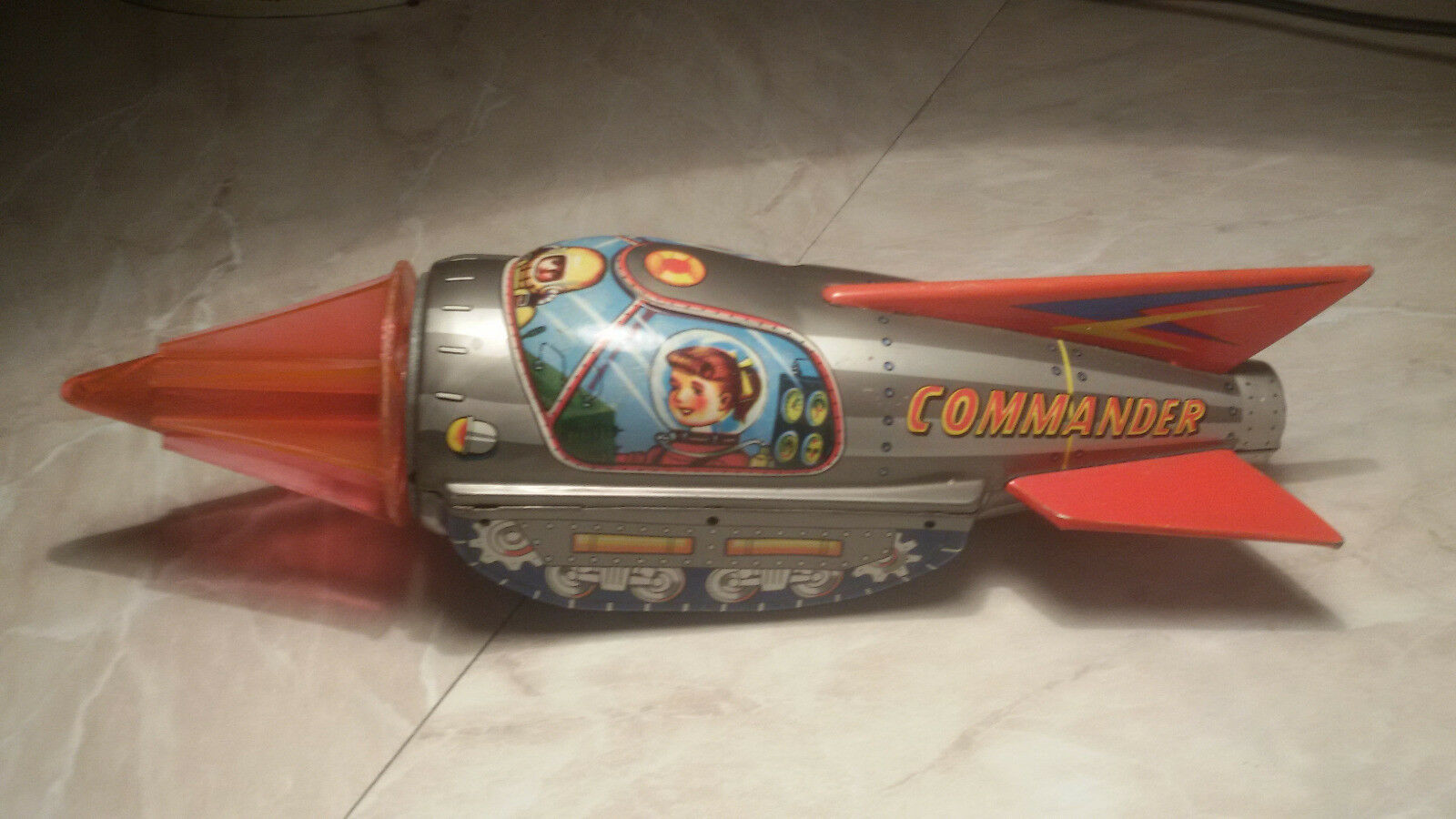 Space Toy Rocket Ko Yoshiya tinplate toy japan 50s razzo missile vintage