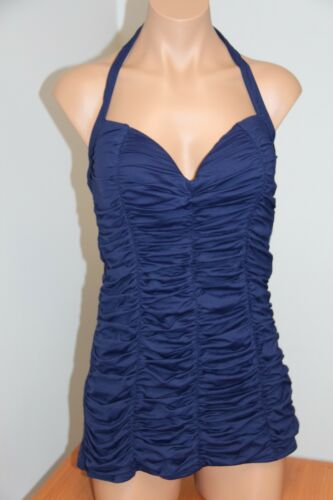 New DKNY Donna Karan Swimsuit 1 one piece size 8 Currant Shirred Swimdress