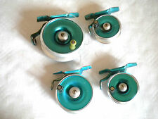 Vintage Fly Fishing reels collection Peerless Profile 7.5cm , 6cm , 5cm x 2 60s