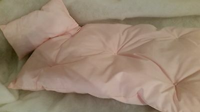 Pink 18 inch Doll Mattress & Pillow Bedding fits American Girl made USA New