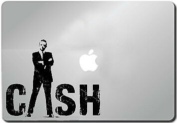 "Johnny Cash nice silhouette car Laptop MAC Decal Sticker 6/"" Black"