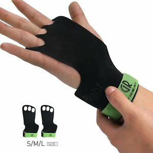 1-Pair-Leather-Gymnastic-Grips-3-Hole-Gym-Hand-Grips-Protect-Your-Hands