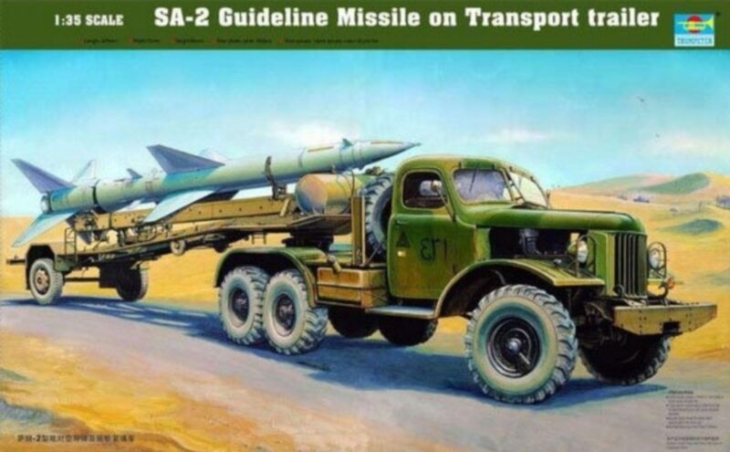 ◆ Trumpeter 00204 1 35 SA-2 Guideline Missile on Tran