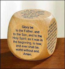 Favorite Catholic Prayers Wooden Prayer Cube NEW SKU NS118