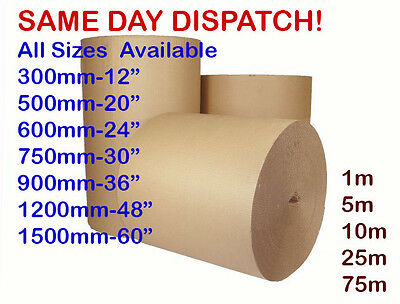 5m 600MM 24/'/' CORRUGATED STRONG CARDBOARD PAPER ROLLS packaging parcel post