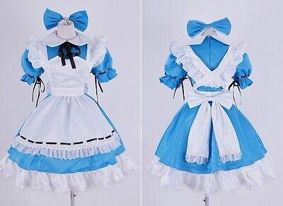 H-139 Black  Butler Ciel Alice Wonderland Kleid Cosplay Kostüm costume n. Maß