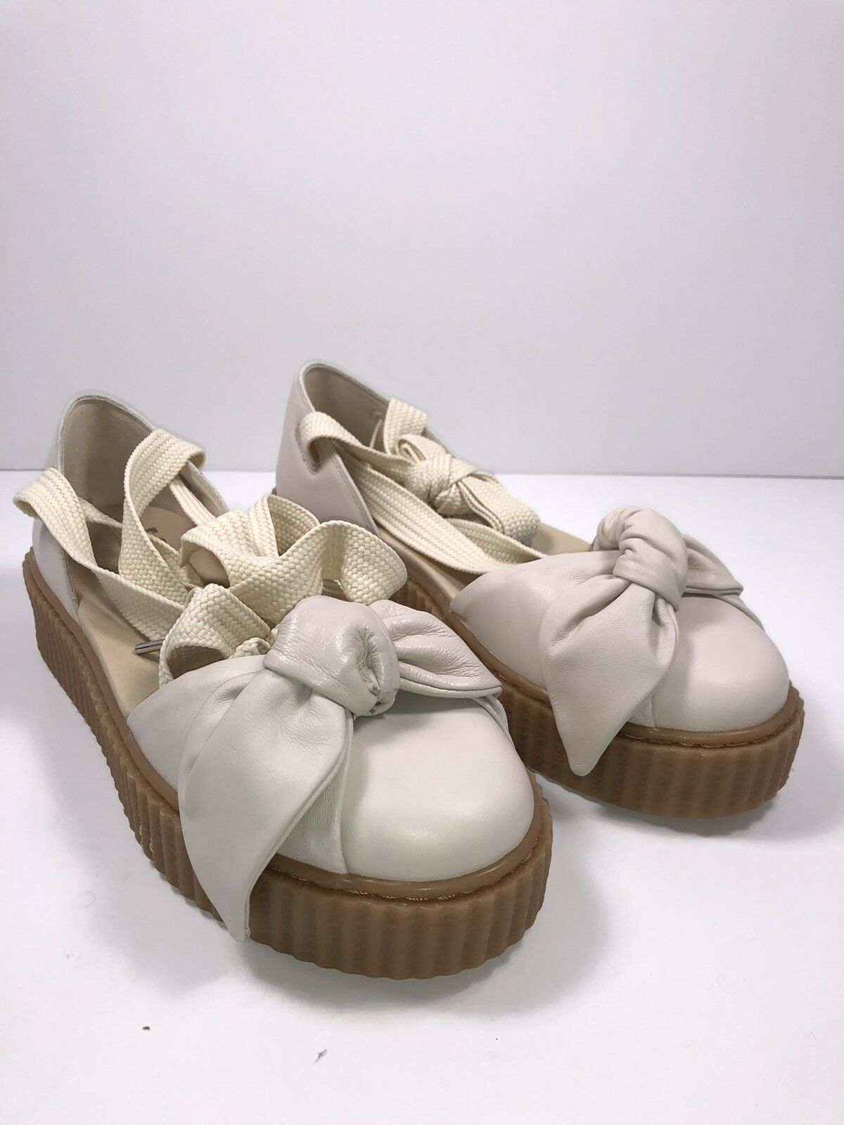 femmes PUMA  FENTY  RIHANNA CREEPER BOW baskets TIE UP SANDALS TAN SZ 9