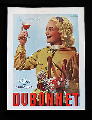 Merchandise & Memorabilia L'illustration Original 1936 Noel Edition Dubonnet Advertisement