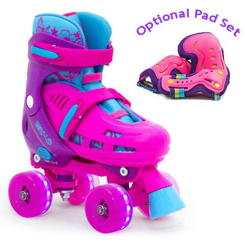 SFR Lightning Hurricane Adjustable Quad Roller Skates Light Light Skates up wheels d2e4ba
