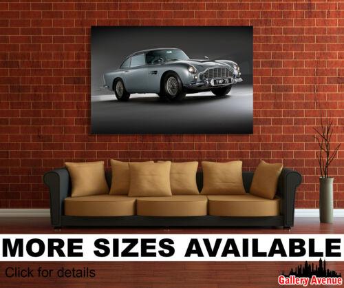 Aston Martin DB5 1964 Classic Car James Bond 3.2 Wall Art Canvas Picture Print