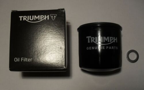 GENUINE TRIUMPH SPEEDMASTER EFI CARBS OIL FILTER with SUMP PLUG WASHER