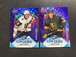 2019-20-UPPER-DECK-ICE-CODY-GLASS-LOT-OF-2-ROOKIE-SUB-ZERO-999-RARE-VARIANT