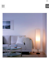 Genuine Ikea HOLMO Floor Lamp Soft Smooth Relaxing Living Room Bedroom