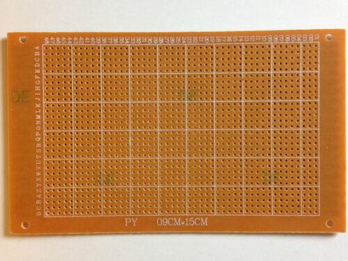 Cuadrícula agujero placa 150x90 mmrayas rejillaRM 2,54unilateralmenteduro papel