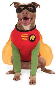 Image is loading Batman-or-Robin-Dog-Costume-Sizes-S-M-L-XL-  sc 1 st  eBay & Batman or Robin Dog Costume - Sizes S-M-L-XL-2XL-3XL | eBay