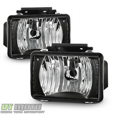 Black 2004-2012 Chevy Colorado GMC Canyon Pickup Bumper Fog Lights Driving Lamps