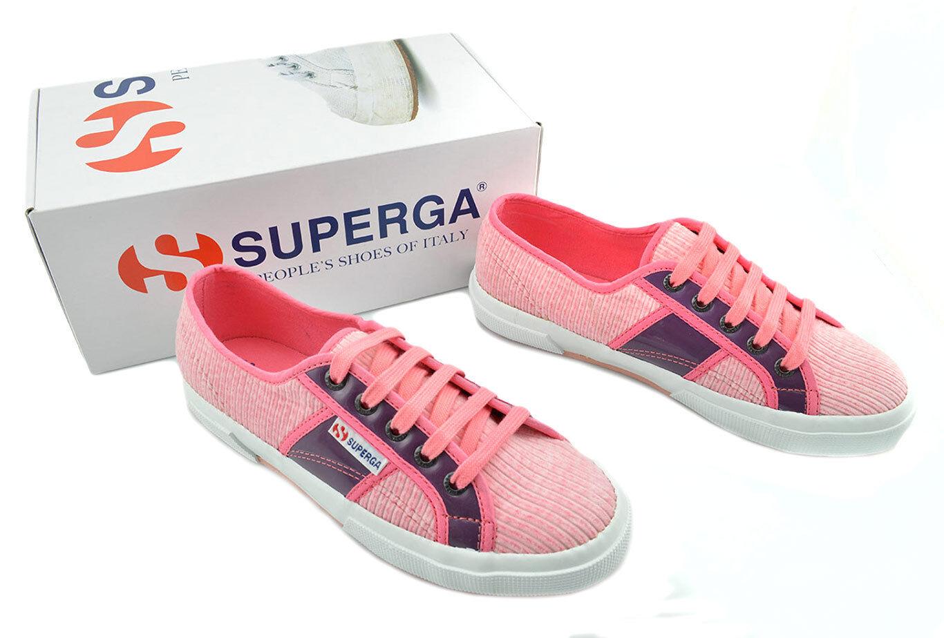 75 Cuero Púrpura De Pana rosado Superga Colección Zapatillas de mujer Zapatos Nueva Colección Superga d33072
