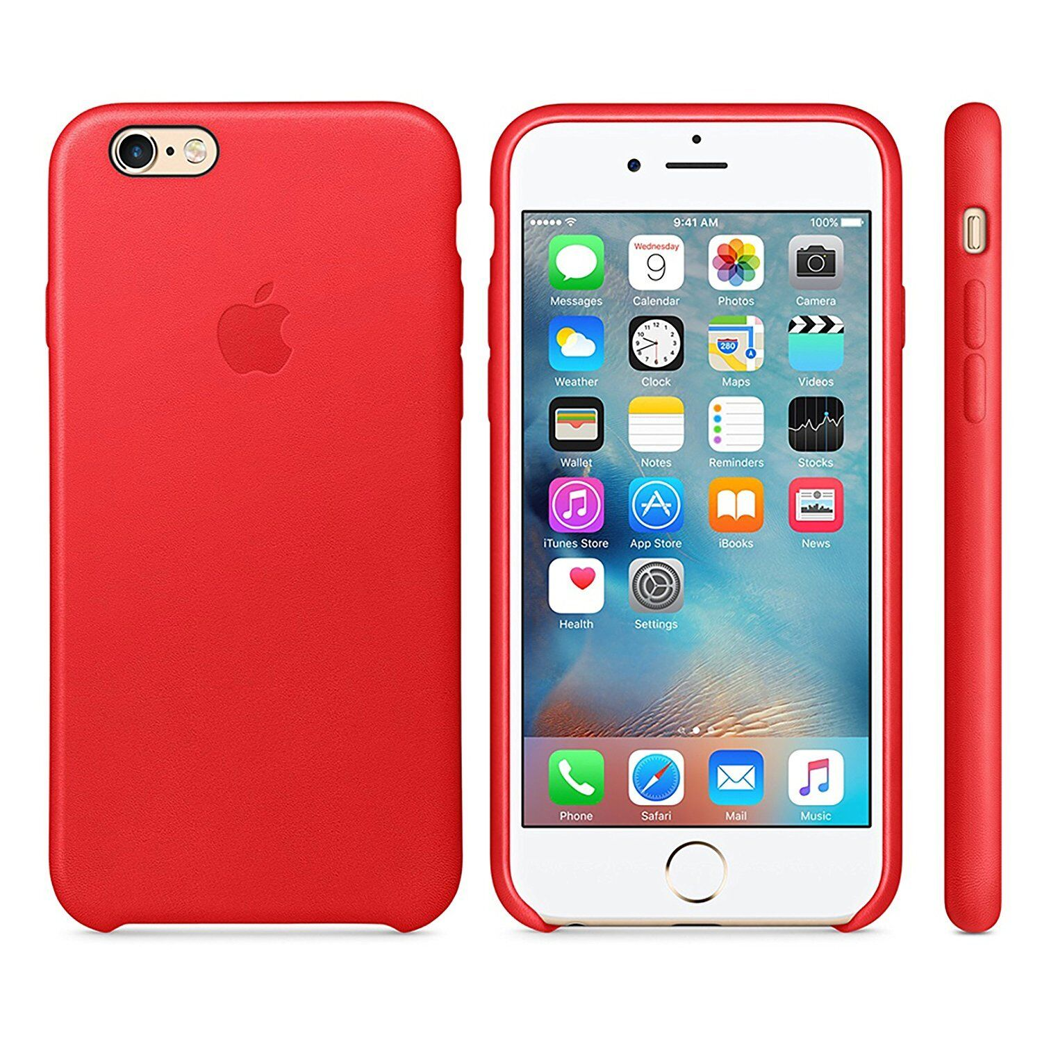 huge discount b2bb7 6cc26 Apple Mkxg2zm/a iPhone 6s Plus Leather Case Red