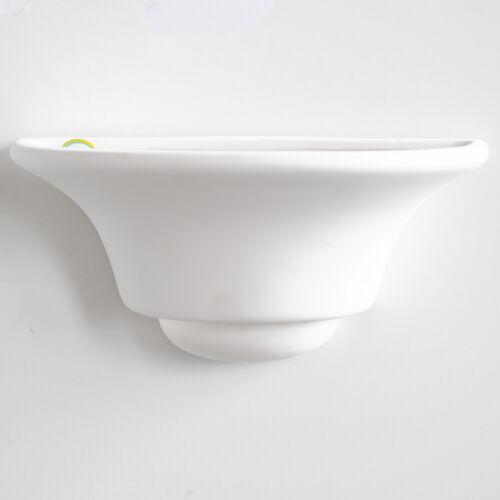 Ceramic Single Wall UpLighter Modern B22 Light in White CLEARANCE Litecraft