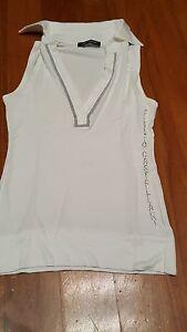 T-shirt-Flavio-Castellani-con-strass-bianca-in-perfette-condizioni-tg-XS