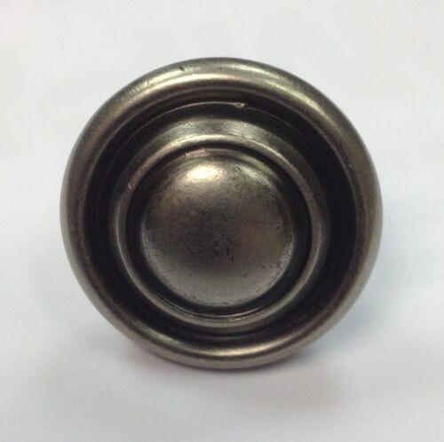 45 Pk Antique Pewter Effect  Kitchen Cupboard Door Handle Button Knob 32mm