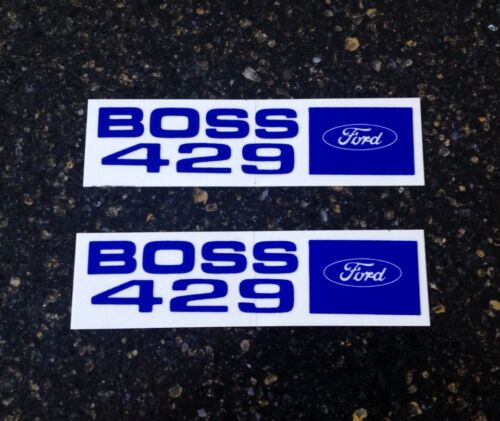 """Mint Two Pairs New /""""Boss 429/"""" Ford Valve Cover Type Decals NASCAR! Two Pairs"""